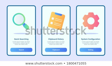 Stok fotoğraf: Quick Documents Search Vector Colorful Banner Template