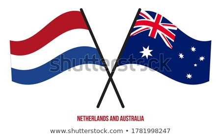 Crossed flags flat color illustration Stock photo © barsrsind
