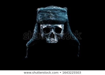 Schedel hoed oor schets kompas bril Stockfoto © netkov1