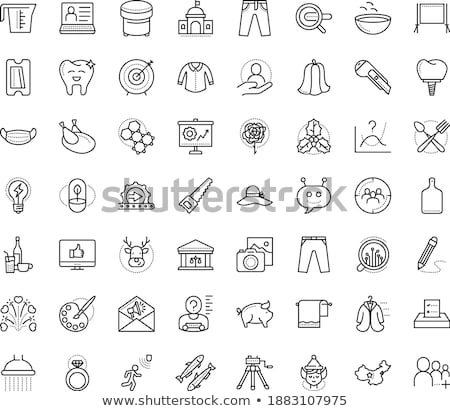 chat message hr icon vector outline illustration Stock photo © pikepicture