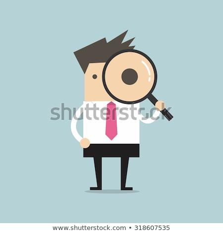 брокер увеличительное стекло бизнесмен страница информации Сток-фото © robuart