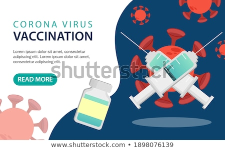 Vaccination program concept landing page. Stock photo © RAStudio
