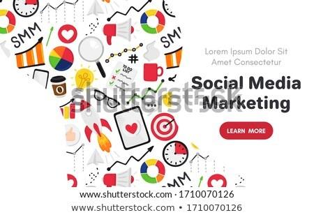 ベクトル 要素 ソーシャルメディア マーケティング に達する プロモーション ストックフォト © user_10144511
