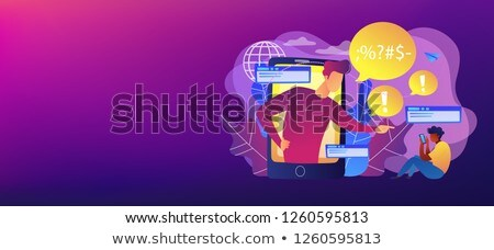 Cyberbullying in social media vector concept metaphor Stock photo © RAStudio