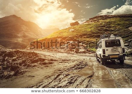 Himalayan landscape with road Stock photo © dmitry_rukhlenko