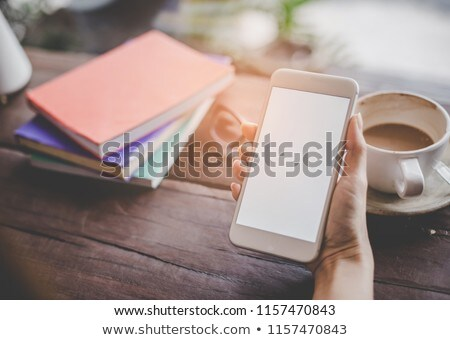 cup smartphone and book stock photo © witthaya