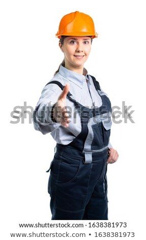 portrait of young foreman all smiles isolated on white Stock photo © photography33