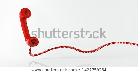 3D · Rood · telefoon · vintage · draad - stockfoto © spectral