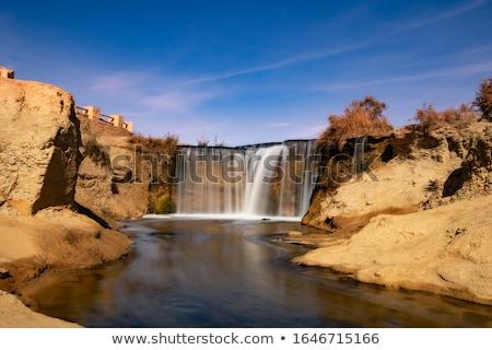 Watervallen Egypte natuur landschap woestijn waterval Stockfoto © prill