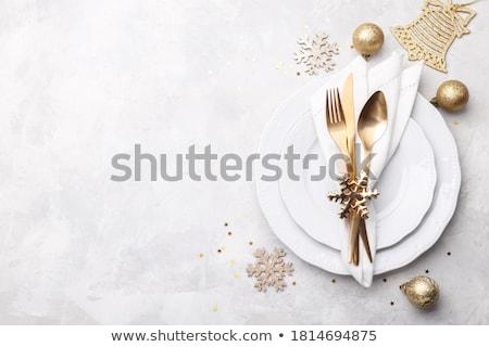 menü · çiçekler · düğün - stok fotoğraf © cla78