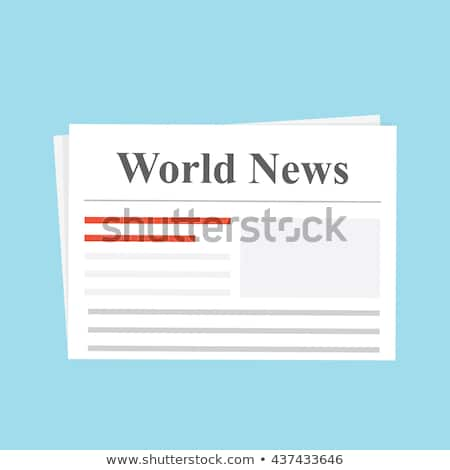 International newspapers on white. Stock photo © d13