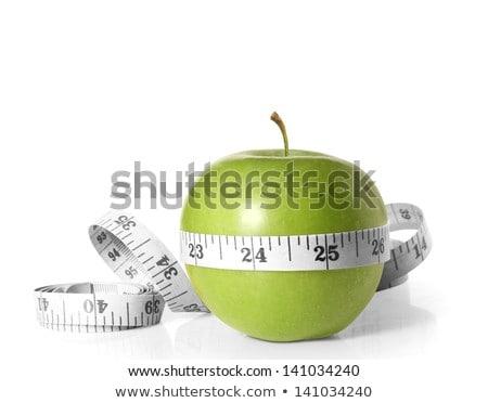 яблоко измерение изолированный белый продовольствие здоровья Сток-фото © oly5