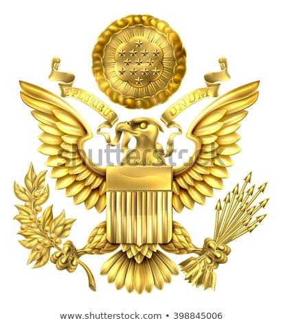 États-Unis · Amérique · bouclier · étoiles · pavillon · blanche - photo stock © nazlisart