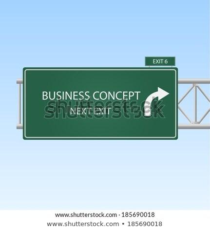 nieuwe · groene · snelweg · wegwijzer · weg · achtergrond - stockfoto © tashatuvango