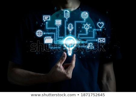 ストックフォト: を · 教育 · 検索 · 文字列 · スマートフォン · リクエスト