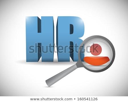 idea resume worker. illustration design over a white background Stock photo © alexmillos