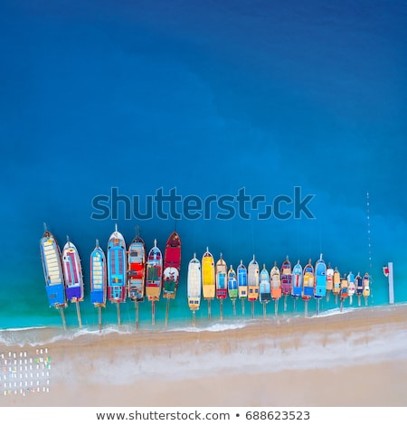 Stock photo: colorful dock