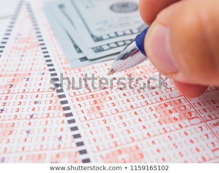 Marking lottery ticket Stock photo © smuki