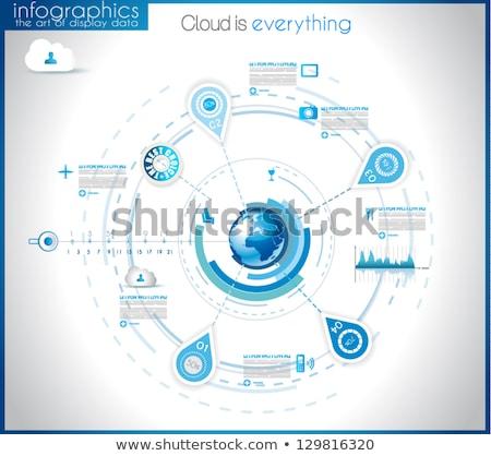 Infographic template for modern data visualization and ranking Stock photo © DavidArts