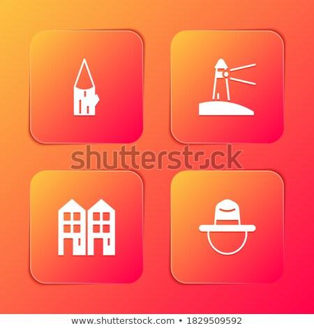 Prawa podpisania pomarańczowy wektora przycisk ikona Zdjęcia stock © rizwanali3d
