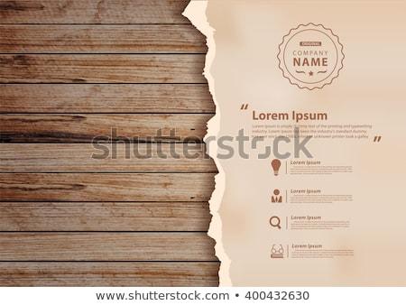 Kâğıt levha eski ahşap üst görmek Stok fotoğraf © Elisanth