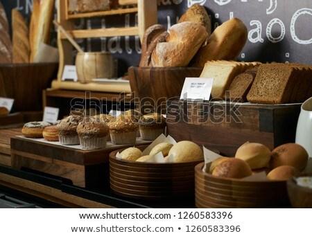 Foto stock: Pão · estação · cesta · bufê
