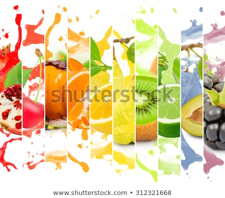 Lime slices abstract food background Stock photo © kayros