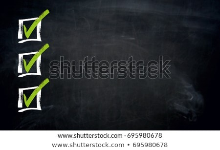 Checklist with Copyspace blackboard template stock photo © user_9870494