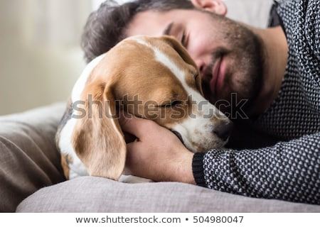 Portrait of young man with dog Stock photo © IS2