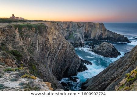 懸崖 海洋 濱 水 牆 性質 商業照片 © homydesign