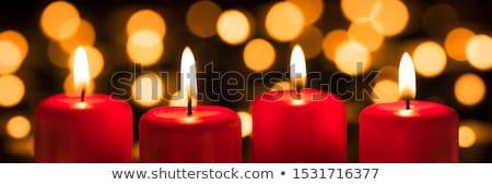 Candele brucia Natale luminoso tempo luce Foto d'archivio © wavebreak_media