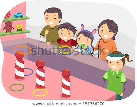 Children playing ring toss Stock photo © bluering