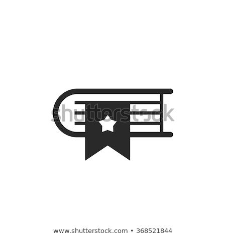 книга · икона · белый · бизнеса · бумаги · знак - Сток-фото © smoki