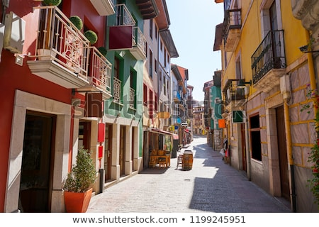 llanes village facades in asturias spain stock photo © lunamarina