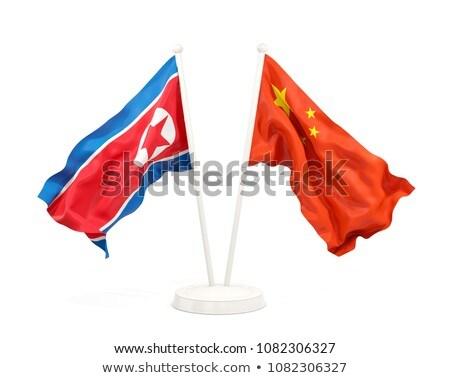Dos banderas China norte aislado Foto stock © MikhailMishchenko