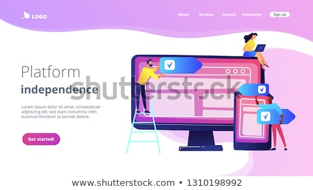 Cross-platform software concept landing page. Stock photo © RAStudio