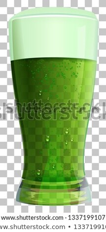 Alto vidrio verde irlandés cerveza transparente Foto stock © orensila