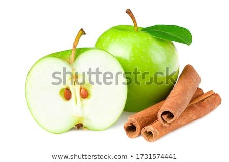Сток-фото: корицей · зеленый · яблоки · белый · ресторан · красный