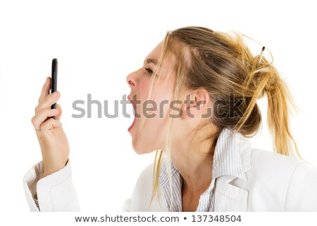 Frustrated Woman Shouting On Telephone Stock photo © AndreyPopov