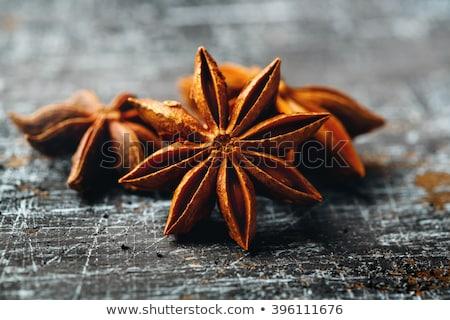 ánizs klasszikus fekete textúra csillag felülnézet Stock fotó © dariazu