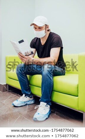 Worried Senior Adult Man Waiting in Doctor Office Stock photo © feverpitch