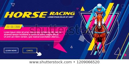 Sportok fogadás leszállás oldal pici emberek Stock fotó © RAStudio