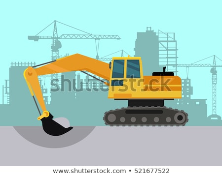 Mining Industry in Big City, Excavation Works Stock photo © robuart