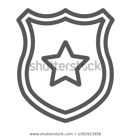 Police Officer Badge Icon Outline Illustration Stock photo © pikepicture
