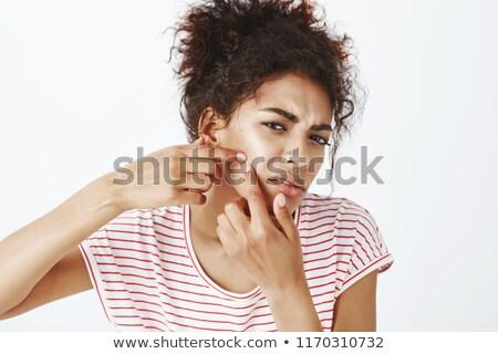 Meisjes vrouwen vrienden afbeelding geconcentreerde jonge Stockfoto © deandrobot