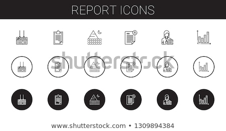 Journalist Reporter Onboarding Elements Icons Set Vector Stock photo © pikepicture
