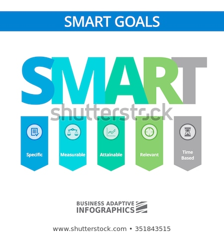 Smart goals, setting marketing objectives. Stock photo © olivier_le_moal