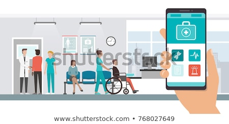Online Meeting with Help of Innovations and Apps Stock photo © robuart