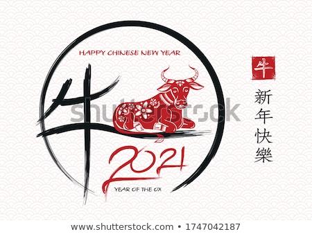 Geleneksel Çin muska örnek sunmak dini Stok fotoğraf © adrenalina