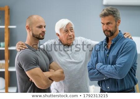 祖父 家族 紛争 父から息子 ホーム 男性 ストックフォト © AndreyPopov